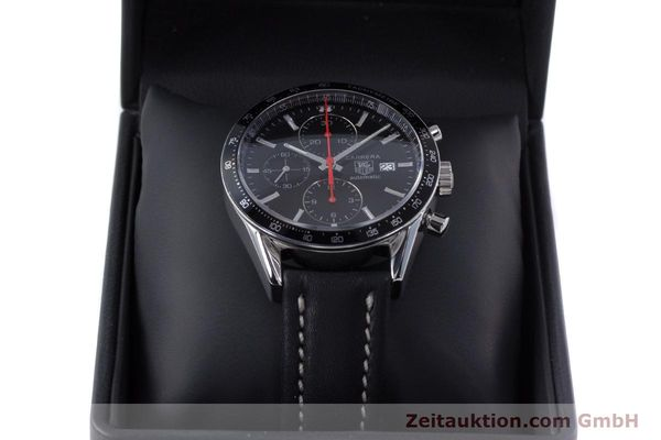 Used luxury watch Tag Heuer Carrera chronograph steel automatic Kal. 16 Ref. CV2014  | 160081 07