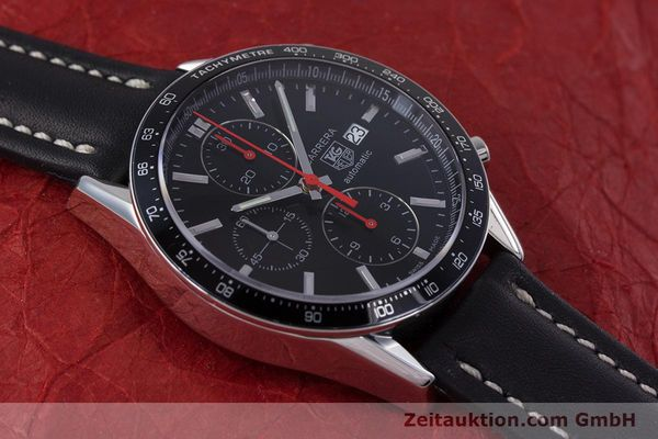 Used luxury watch Tag Heuer Carrera chronograph steel automatic Kal. 16 Ref. CV2014  | 160081 14