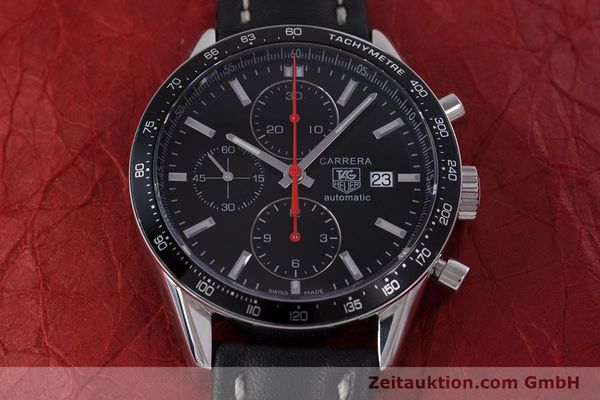 Used luxury watch Tag Heuer Carrera chronograph steel automatic Kal. 16 Ref. CV2014  | 160081 15