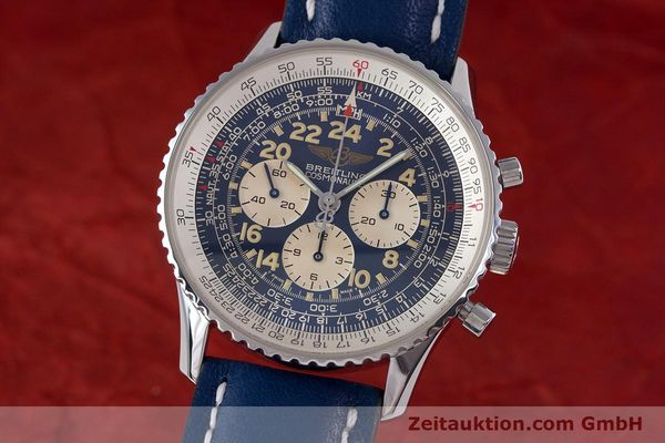 Used luxury watch Breitling Navitimer chronograph steel manual winding Kal. LWO1873 Ref. A12022  | 160086 04