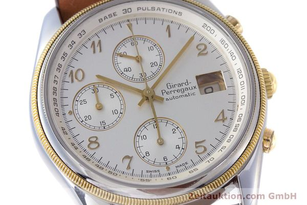 Used luxury watch Girard Perregaux Olimpico chronograph steel / gold automatic Kal. 800-964 Ref. 4900  | 160089 02
