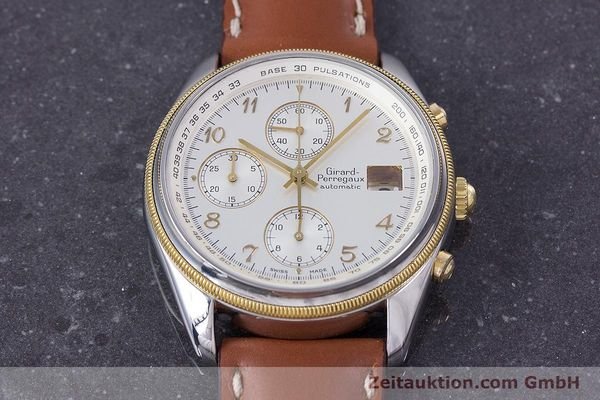 Used luxury watch Girard Perregaux Olimpico chronograph steel / gold automatic Kal. 800-964 Ref. 4900  | 160089 13