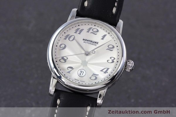 Used luxury watch Montblanc Meisterstück steel automatic Kal. 4810401 ETA 2892A2 Ref. 7068  | 160090 04