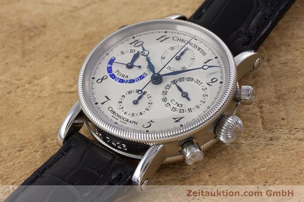 Used luxury watch Chronoswiss Tora chronograph steel automatic Kal. 743 Ref. CH7423  | 160100 01