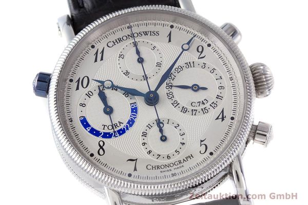 Used luxury watch Chronoswiss Tora chronograph steel automatic Kal. 743 Ref. CH7423  | 160100 02