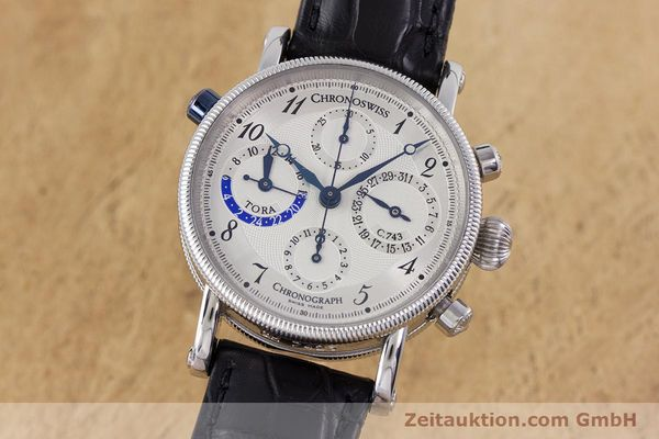 Used luxury watch Chronoswiss Tora chronograph steel automatic Kal. 743 Ref. CH7423  | 160100 04