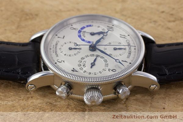 Used luxury watch Chronoswiss Tora chronograph steel automatic Kal. 743 Ref. CH7423  | 160100 05