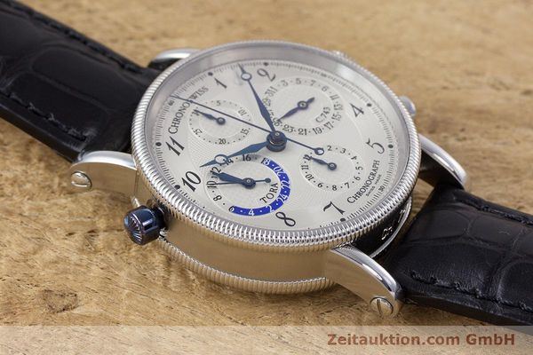Used luxury watch Chronoswiss Tora chronograph steel automatic Kal. 743 Ref. CH7423  | 160100 17