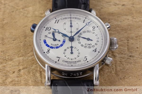 Used luxury watch Chronoswiss Tora chronograph steel automatic Kal. 743 Ref. CH7423  | 160100 18