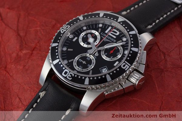 Used luxury watch Longines Hydro Conquest chronograph steel quartz Kal. L541.2 ETA 251.262 Ref. L3.643.4  | 160115 01