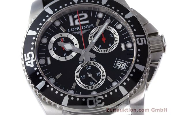 Used luxury watch Longines Hydro Conquest chronograph steel quartz Kal. L541.2 ETA 251.262 Ref. L3.643.4  | 160115 02