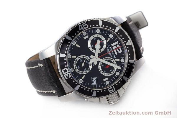 Used luxury watch Longines Hydro Conquest chronograph steel quartz Kal. L541.2 ETA 251.262 Ref. L3.643.4  | 160115 03