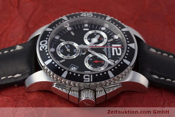 Used luxury watch Longines Hydro Conquest chronograph steel quartz Kal. L541.2 ETA 251.262 Ref. L3.643.4  | 160115 05