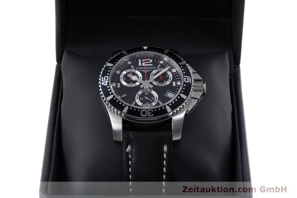 Used luxury watch Longines Hydro Conquest chronograph steel quartz Kal. L541.2 ETA 251.262 Ref. L3.643.4  | 160115 07
