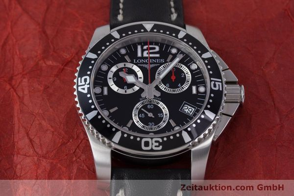 Used luxury watch Longines Hydro Conquest chronograph steel quartz Kal. L541.2 ETA 251.262 Ref. L3.643.4  | 160115 13