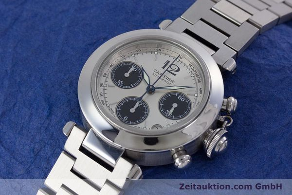 Used luxury watch Cartier Pasha chronograph steel automatic Kal. 047 Ref. 2412  | 160133 01