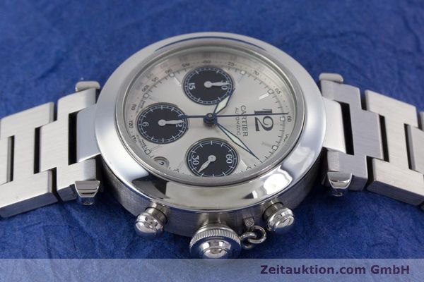 Used luxury watch Cartier Pasha chronograph steel automatic Kal. 047 Ref. 2412  | 160133 05