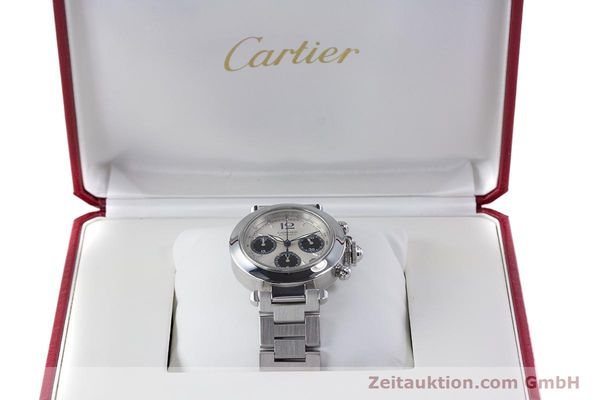 Used luxury watch Cartier Pasha chronograph steel automatic Kal. 047 Ref. 2412  | 160133 07