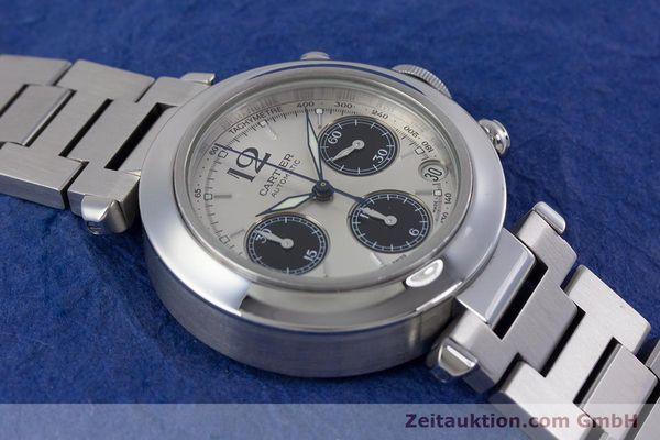 Used luxury watch Cartier Pasha chronograph steel automatic Kal. 047 Ref. 2412  | 160133 14