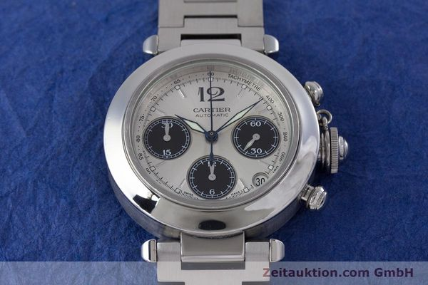 Used luxury watch Cartier Pasha chronograph steel automatic Kal. 047 Ref. 2412  | 160133 15