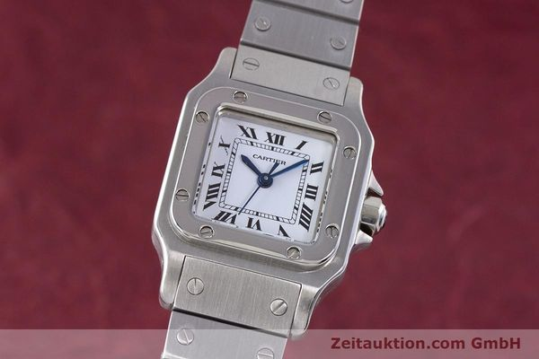 Used luxury watch Cartier Santos steel automatic Kal. ETA 2670  | 160136 04