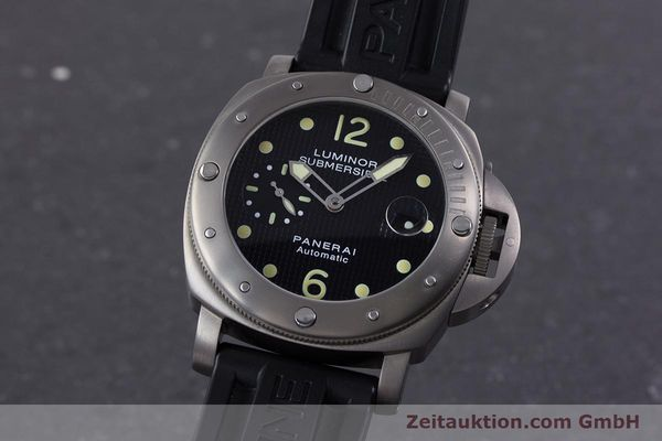 Used luxury watch Panerai Luminor Submersible titanium automatic Kal. ETA A05511 Ref. OP6562, PAM00025  | 160140 04
