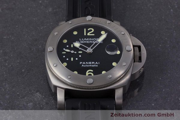 Used luxury watch Panerai Luminor Submersible titanium automatic Kal. ETA A05511 Ref. OP6562, PAM00025  | 160140 15