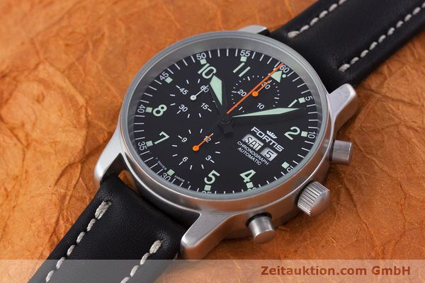 Used luxury watch Fortis Flieger Chronograph chronograph steel automatic Kal. ETA 7750 Ref. 597.10.141  | 160150 01
