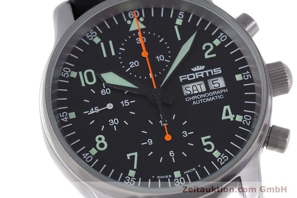 Used luxury watch Fortis Flieger Chronograph chronograph steel automatic Kal. ETA 7750 Ref. 597.10.141  | 160150 02