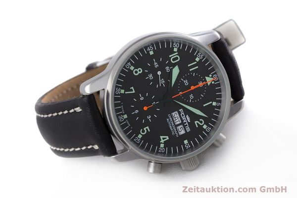 Used luxury watch Fortis Flieger Chronograph chronograph steel automatic Kal. ETA 7750 Ref. 597.10.141  | 160150 03