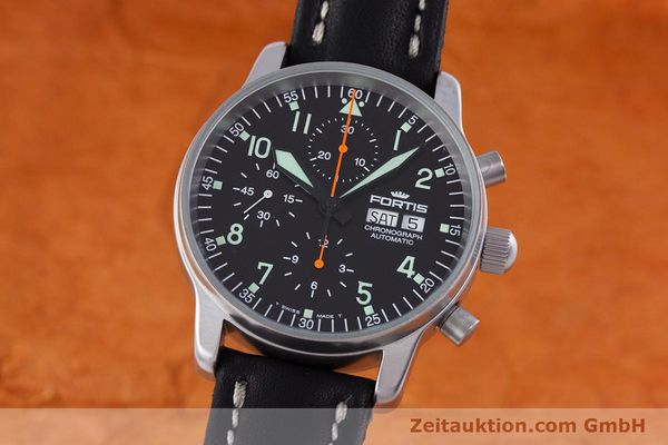 Used luxury watch Fortis Flieger Chronograph chronograph steel automatic Kal. ETA 7750 Ref. 597.10.141  | 160150 04