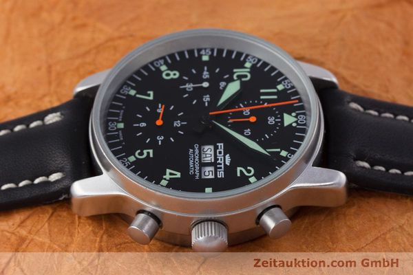 Used luxury watch Fortis Flieger Chronograph chronograph steel automatic Kal. ETA 7750 Ref. 597.10.141  | 160150 05