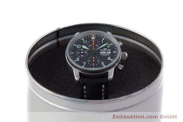 Used luxury watch Fortis Flieger Chronograph chronograph steel automatic Kal. ETA 7750 Ref. 597.10.141  | 160150 07