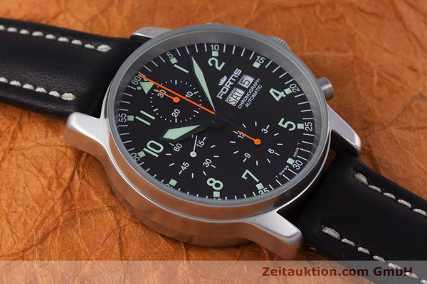 Used luxury watch Fortis Flieger Chronograph chronograph steel automatic Kal. ETA 7750 Ref. 597.10.141  | 160150 14