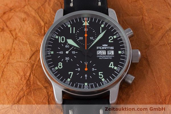 Used luxury watch Fortis Flieger Chronograph chronograph steel automatic Kal. ETA 7750 Ref. 597.10.141  | 160150 15