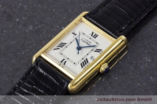 Used luxury watch Cartier Tank silver-gilt quartz Kal. 687 Ref. 2413  | 160153 01