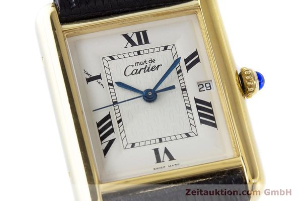 Used luxury watch Cartier Tank silver-gilt quartz Kal. 687 Ref. 2413  | 160153 02