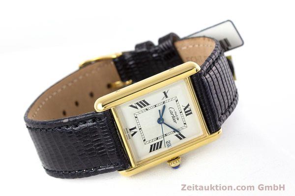 Used luxury watch Cartier Tank silver-gilt quartz Kal. 687 Ref. 2413  | 160153 03