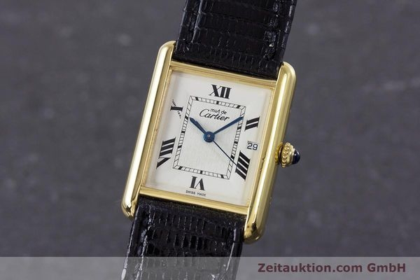 Used luxury watch Cartier Tank silver-gilt quartz Kal. 687 Ref. 2413  | 160153 04