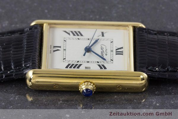 Used luxury watch Cartier Tank silver-gilt quartz Kal. 687 Ref. 2413  | 160153 05