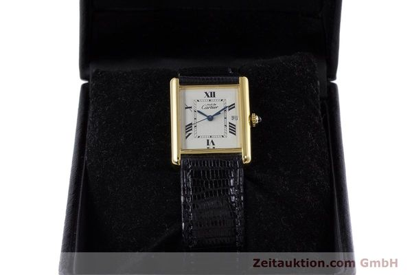 Used luxury watch Cartier Tank silver-gilt quartz Kal. 687 Ref. 2413  | 160153 07