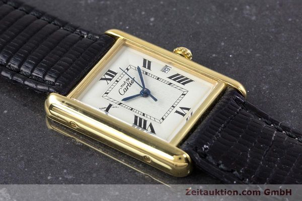 Used luxury watch Cartier Tank silver-gilt quartz Kal. 687 Ref. 2413  | 160153 11