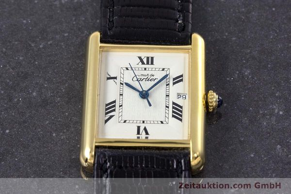 Used luxury watch Cartier Tank silver-gilt quartz Kal. 687 Ref. 2413  | 160153 12