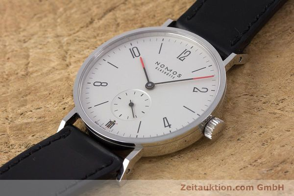 Used luxury watch Nomos Tangente steel manual winding Kal. Alpha LIMITED EDITION | 160158 01