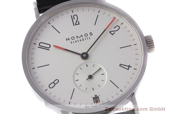 Used luxury watch Nomos Tangente steel manual winding Kal. Alpha LIMITED EDITION | 160158 02