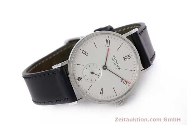 Used luxury watch Nomos Tangente steel manual winding Kal. Alpha LIMITED EDITION | 160158 03
