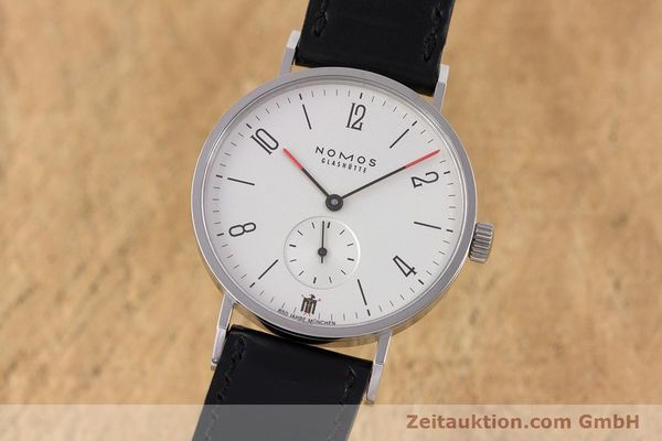 Used luxury watch Nomos Tangente steel manual winding Kal. Alpha LIMITED EDITION | 160158 04