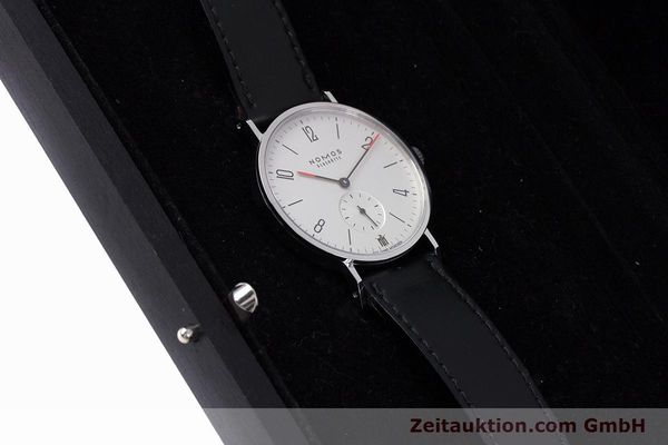 Used luxury watch Nomos Tangente steel manual winding Kal. Alpha LIMITED EDITION | 160158 07