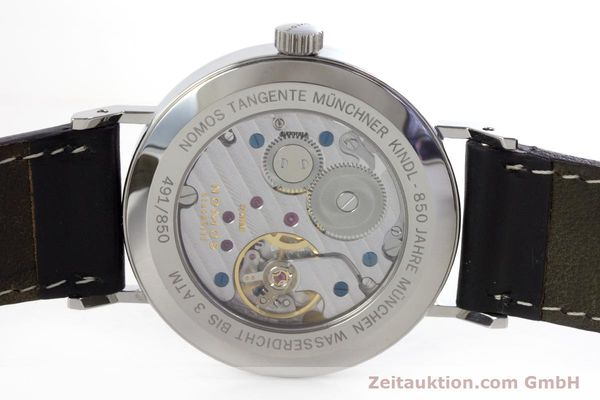Used luxury watch Nomos Tangente steel manual winding Kal. Alpha LIMITED EDITION | 160158 09