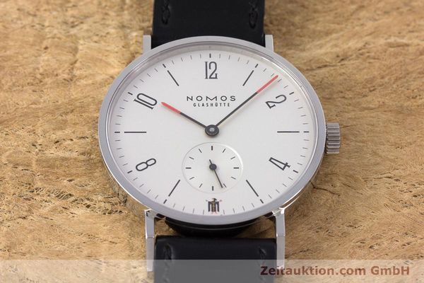 Used luxury watch Nomos Tangente steel manual winding Kal. Alpha LIMITED EDITION | 160158 16
